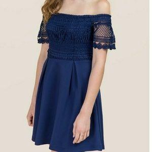 Francesca Sandra Off Shoulder Dress NWT